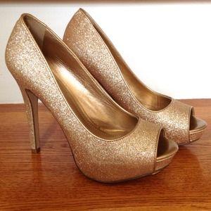 462325e1120e ALDO Shoes | Glittery Rose Gold Denzenzo Heels | Poshmark