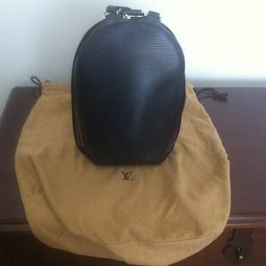 Authentic Louis Vuitton Black Epi Leather Backpack