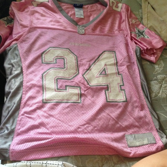 best loved 5dbb9 f3643 pink and gray girl cowboys jersey.