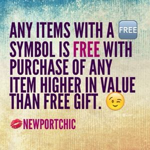 FREE ITEM w/ PURCHASE!!