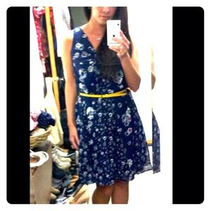 Jason Wu for Target Navy Floral Dress