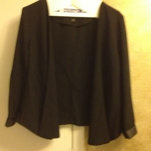 Nwot mossimo blazer  faux leather trim on sleeve