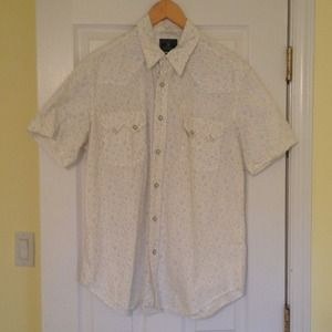 Lucky Brand Mens Short Sleeve Button Up Shirt