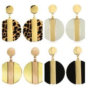 Bold statement earrings