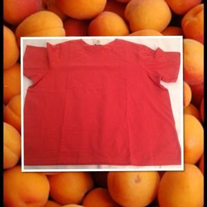 NWT August Max Apricot Stretch Tee Shirt Sz 2X