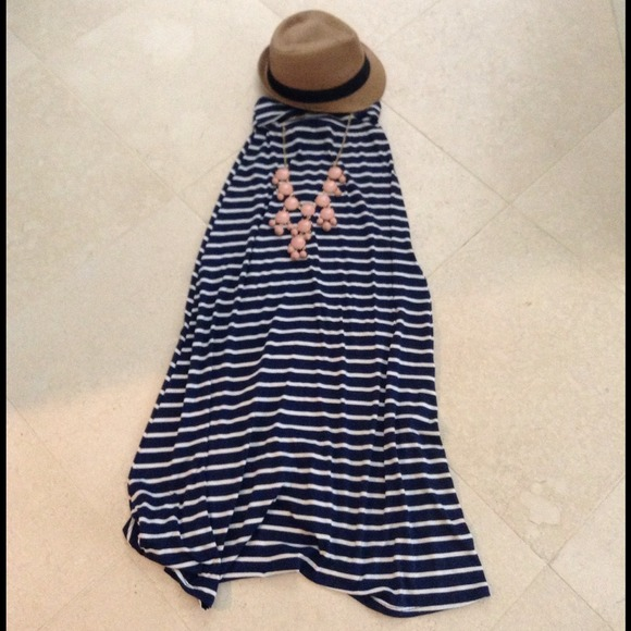 Navy blue/white stripe Maxi skirt 0 from ! sunny's closet on Poshmark