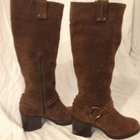 75% off Jessica Simpson Boots - Beautiful knee-high brown suede ...