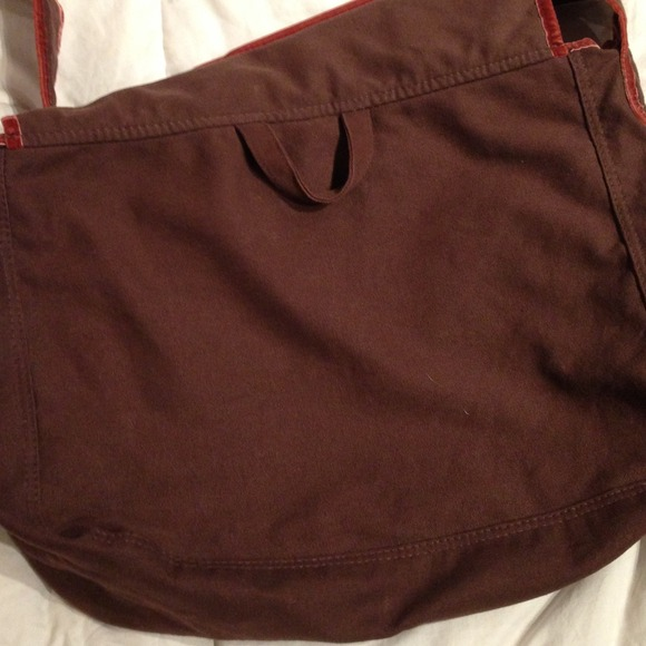 Athletic Works - Large Brown and orange messenger bag from ...