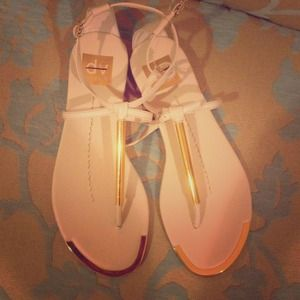 Dolce Vita white and gold sandals size 6