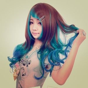 Other - Ombre wig tinted blue :)