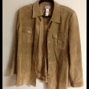 Excellent condition leather suede coat