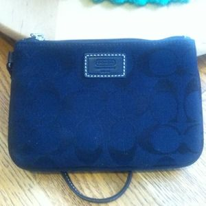 COACH Legacy Small Wristlet in Signature Fabric