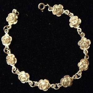 925 sterling silver Rose bracelet