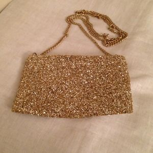 HOST PICK J Crew gold glitter cross body
