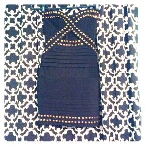 Black with gold studded accents !!! BANDAGE DRESS