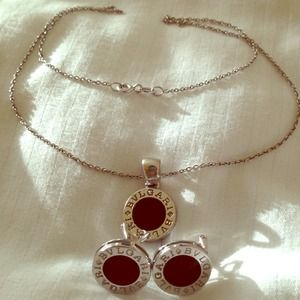 Solid 18k white gold necklace & earrings set.