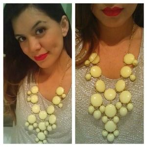 Jewelry - Bubble necklace is pastel yellow