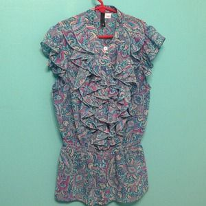 H&M paisley top