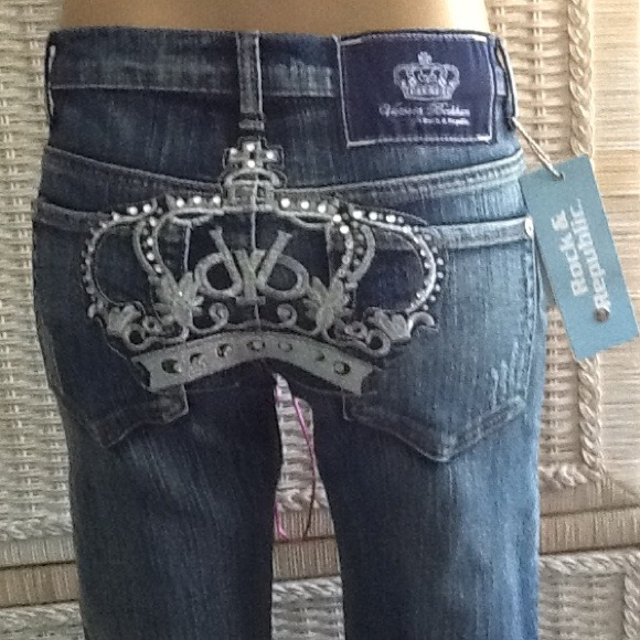 75 off rock republic denim blinged out rock republic jeans from tracy 39 s closet on poshmark. Black Bedroom Furniture Sets. Home Design Ideas