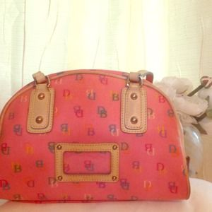 Reduced 🎉Dooney & Bourke Pink Monogrammed Handbag