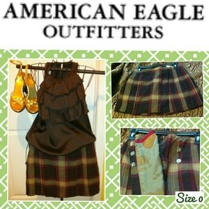 American Eagle Plaid Mini Skirt