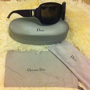Deep purple Dior sunglasses
