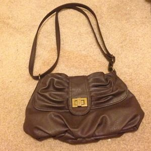 Brown pleather mini bag !