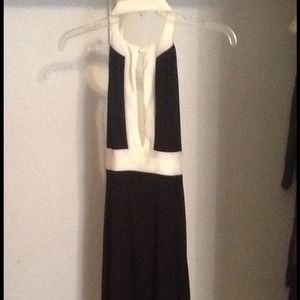 Dresses & Skirts - Reduced !! Ivory and black dress