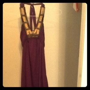 Dresses & Skirts - REDUCED!!!  Summer purple halter dress