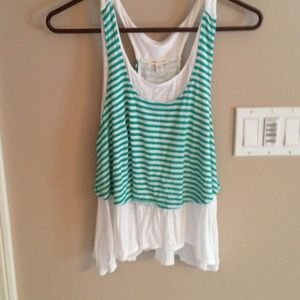 Green and white XS tank