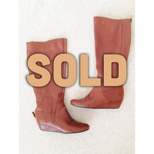 Steve Madden Inspired Brown Small Wedge Boots