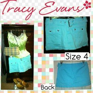 Tracy Evans - Aqua/Turquoise Mini Skirt