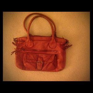 Red leather ASOS handbag