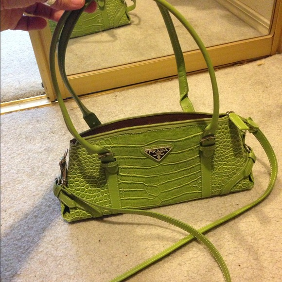 lime green prada purse