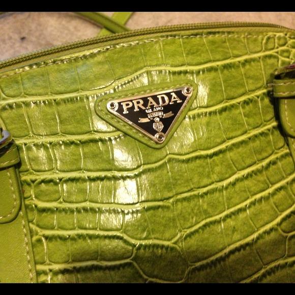 lime green prada purse