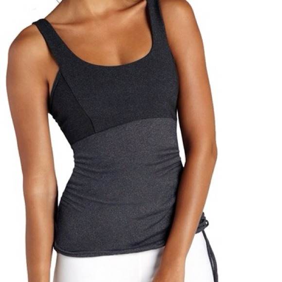 Side Ruched Drawstring Tank