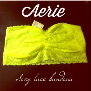 Neon yellow Aerie lace bandeau