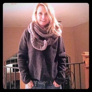 Gray lambswool v neck sweater
