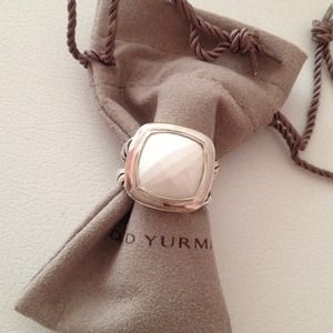 Authentic DAVID YURMAN 14mm White Agate Albion
