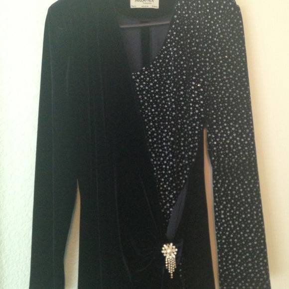 Dresses & Skirts - Navy pattern evening dress