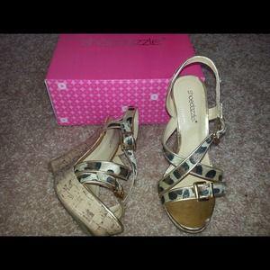 """Shoedazzle """"Flora"""" leopard wedge"""