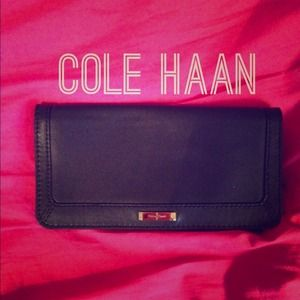 Authentic Cole Haan Wallet - Black Leather