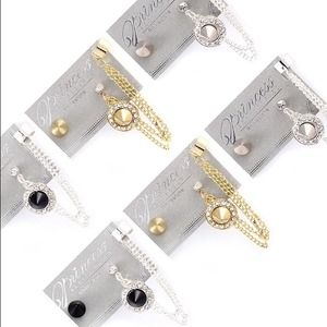 Jewelry - Earring and ear cuff sets