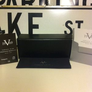 Black Versace Sunglass Case