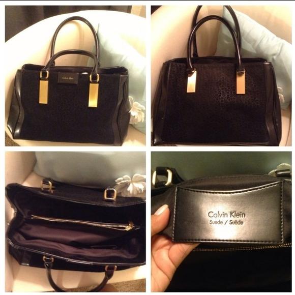 39766c29b0 Calvin Klein Handbags - Calvin Klein suede bag good condition