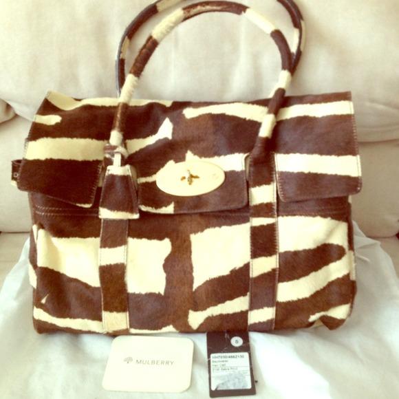 Auth Mulberry Zebra Print Calf Hair Bayswater Bag.  M 5224b82f8ae4a0021f073d02 0e2d613cc0ab5