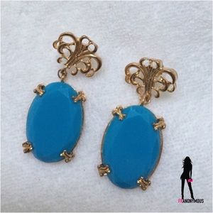 Boutique Jewelry - NWOT Stunning Oversized Turq Look Drop Earrings.