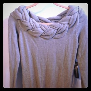 Poof Couture Sweaters - 🎁❤️BUNDLED❤️🎁Braided neck gray sweater