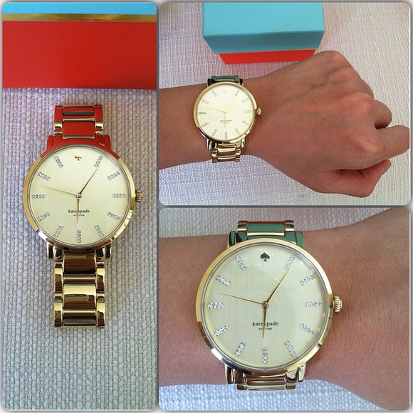 *Authentic* Kate Spade Gramercy Grand Gold Watch