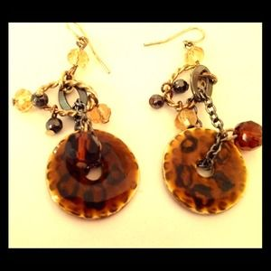 A pair of gorgeous dangling earrings